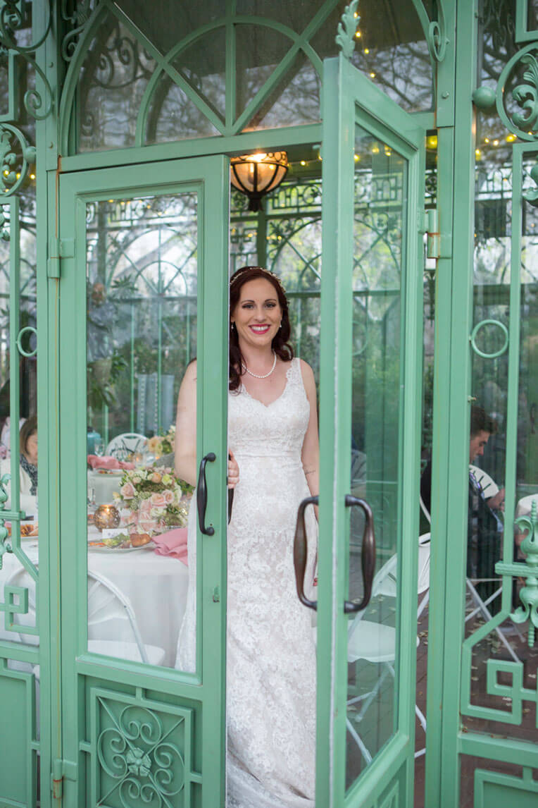 Denver Botanic Gardens wedding spring